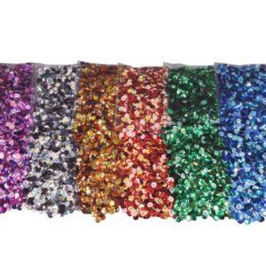 Paljetter 25g 6 farger