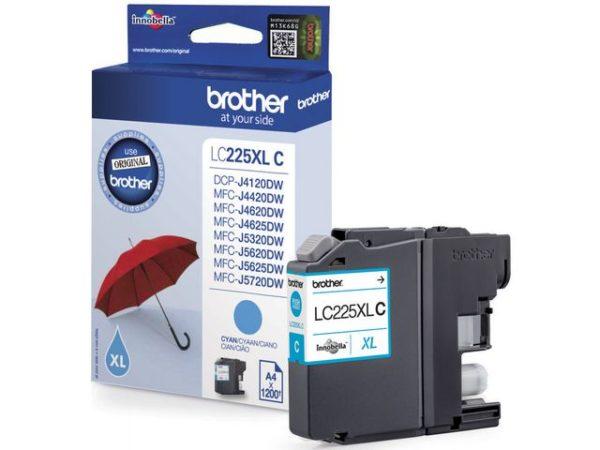 Blekk BROTHER LC225XLC HC cyan