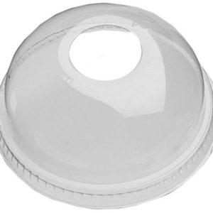 Lokk høye m/hull PET 95mm klar (50)