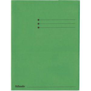 Klaffmappe ESSELTE A4 krt 3 klaff grønn