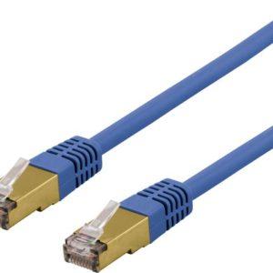 Kabel DELTACO nettverk  Cat6 3m blå