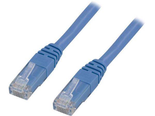 Kabel DELTACO nettverk Cat6 10m blå