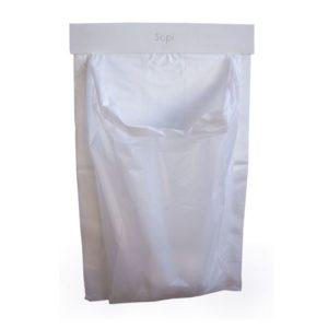 Avfallspose SOPI plast hvit (2500)