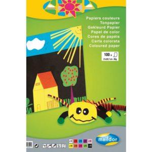 Fargeblokk MAILDOR A4 80g 100 blad 10fr