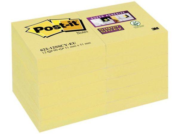 POST-IT SuperS 51x51mm gul (12)