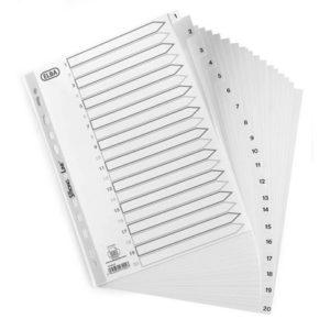 Register ELBA A4 PP 1-31 hvit