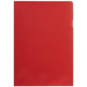 Plastomslag A4 PP 100my rød (100)