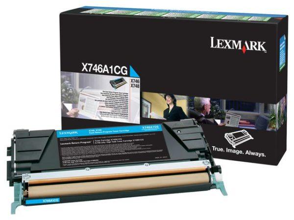 Toner LEXMARK X746A1CG  7K blå
