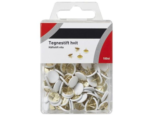Tegnestift hvit (100)