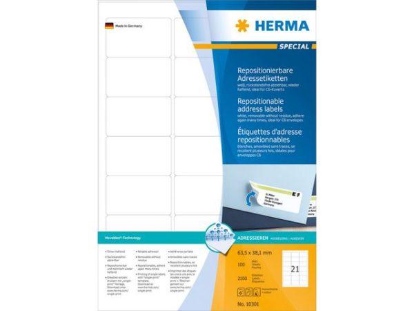 Etikett HERMA adr fl A4 63
