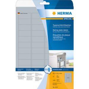 Etikett HERMA sølvfol A4 45