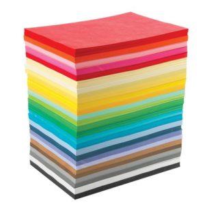 Farget papir 110g jumbopakke A4 (2160)