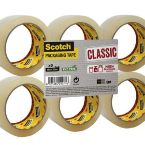 Emballasjetape SCOTCH 50mmx66m klar (6)