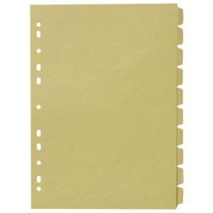 Skilleblad A4 10-delt 150g gul