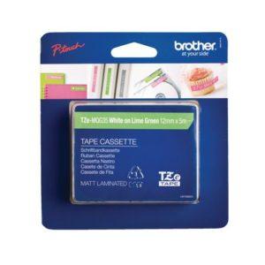 Tape BROTHER TZe-MQG35 12mmx5m hvit/lim