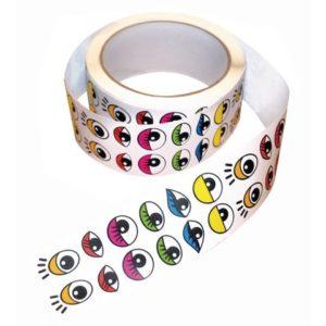 Klistremerker øyne fargede 15mm (2000)