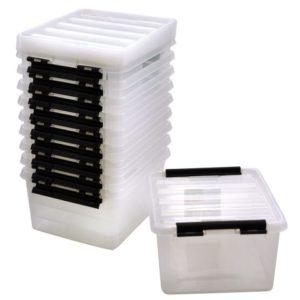 Oppbevaringsboks 2 liter med lokk (10)