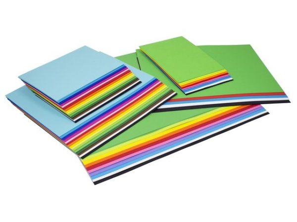 Farget papir mixforpakning (1100)