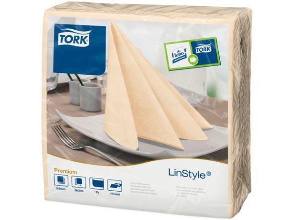 Serviett TORK linstyle 39cm krem (50)