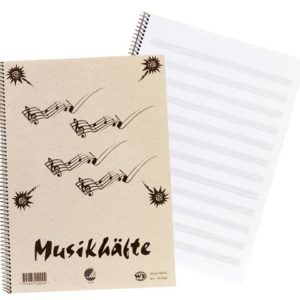 Musikk/Noteblokk A4 spiral 40blad