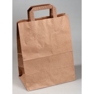 Bærepose papir 260x140x350 brun (250)