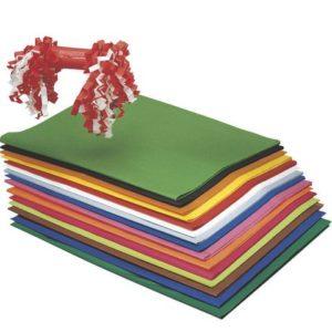 Silkepapir 50x75cm mørkeblå 25 ark