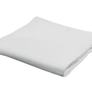 Dekorasjonsfilt 90x100cm hvit