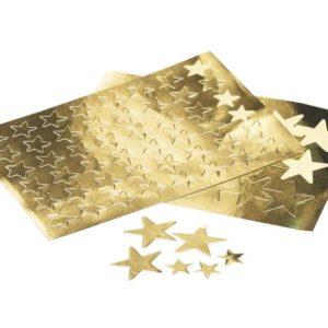 Klistremerker stjerner gull 13mm (288)