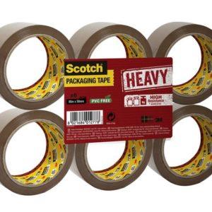 Emb.tape SCOTCH kraftig 50x66 brun (6)