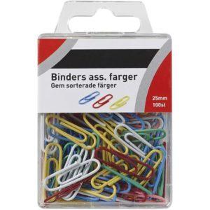 Binders 25mm ass. farger (100)