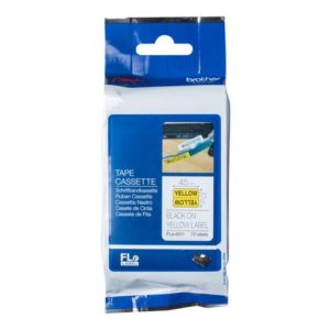 Tape BROTHER FLE-6511 21x45mm sort/gul