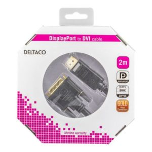 Kabel DELTACO Display/DVI-D M/M 2m sort