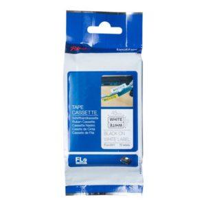 Tape BROTHER FLE-2511 21x45mm sort/hvit