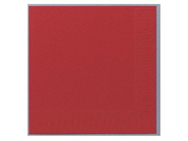 Serviett DUNI 3L 24cm rød (250)