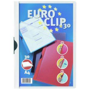 Klemmappe EUROCLIP A4 hvit