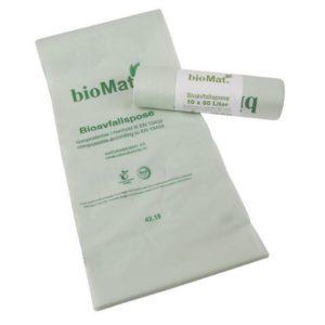 Biosekk BIOMAT knyte sterk 22my 80L (10