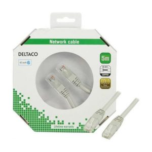 Kabel DELTACO nettverk Cat6 5m grå
