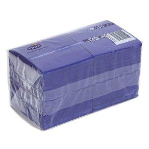 Serviett DUNI 3L 24cm mørk blå (250)