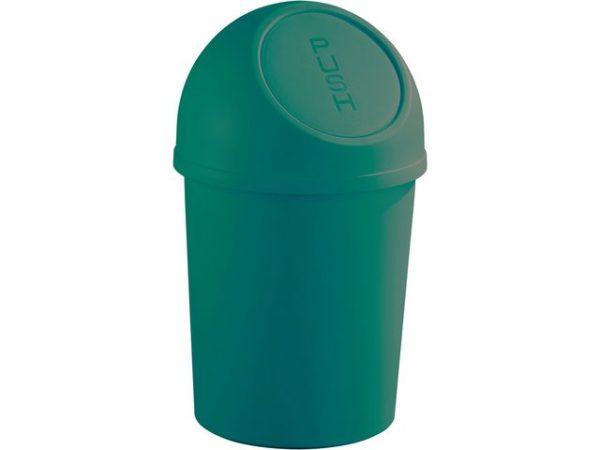 Papirkurv HELIT med push lokk 13L grønn