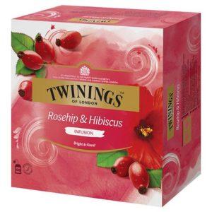 Te TWININGS Nype og hibiskus (100)