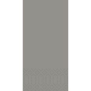 Serviett DUNI 3L 33cm 1/8BR grey(250)