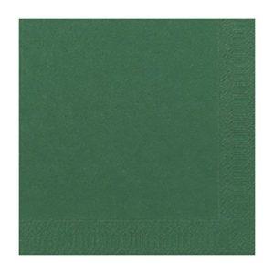 Serviett DUNI 3L 33cm mørk grønn (125)