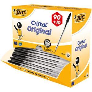 Kulepenn BIC Cristal M sort (100)