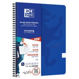 Notatbok OXFORD Touch A4+ 90g linjer bl
