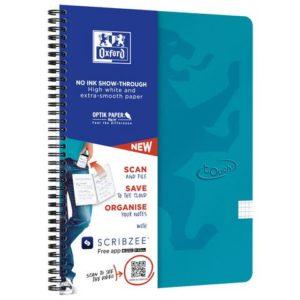 Notatbok OXFORD Touch A4+ 90g rut turki