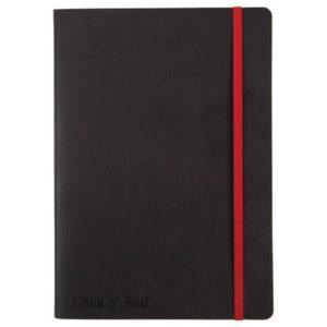 Skrivebok OXFORD Black n´Red soft A5 li
