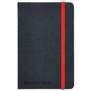 Skrivebok OXFORD Black n´Red hard A5 li