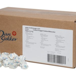Sukkerbit DANSUKKER 2pk hvit 5kg (806)