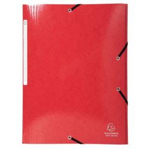 Strikkmappe IDERAMA A4 3 kl 425g rød