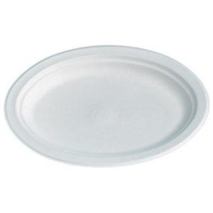Tallerken CHINET oval 26x19cm hvit (140
